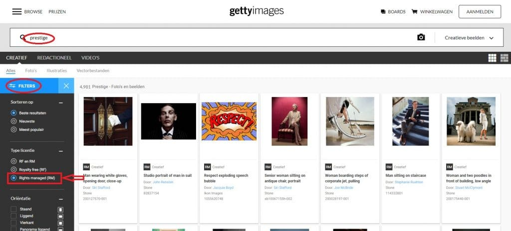 Getty Images Rights Managed