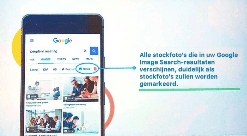 Google voegt een stockfoto label en filter aan Google Image Search toe! 1