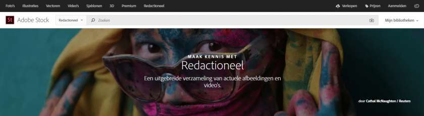 Adobe Stock redactionele collectie